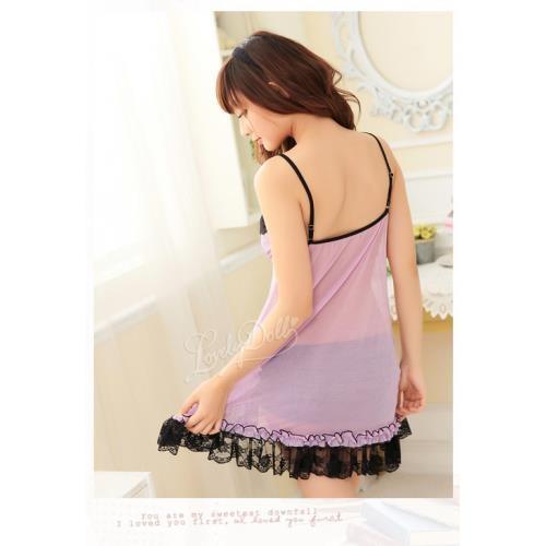 A319 Pink  - 2pc : dress, gstring  Free Size LD 70-86cm, Hips 70-80cm, Bra 32-34    IDR 95.000
