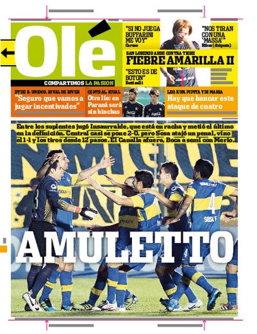 Ole | Diario Deportivo / Boca a Semis de la Copa Argentina