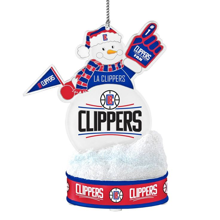 Los Angeles Clippers LED Snowman Ornament, Multicolor