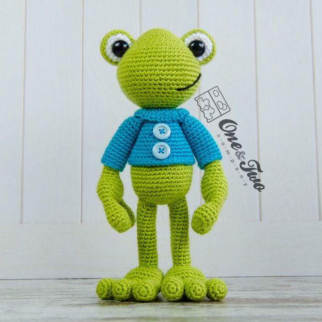 Kelly the Frog amigurumi by One and Two Company