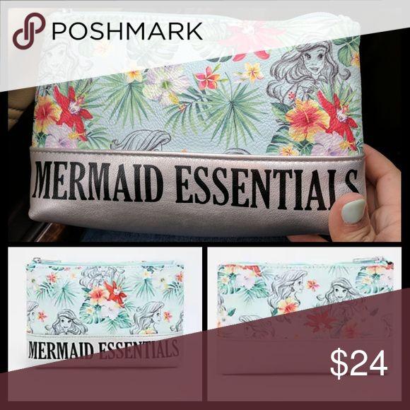 Disney Little Mermaid Ariel make up bag Mermaid Essentials make up bag.  Nwt. Disney Bags Cosmetic Bags & Cases