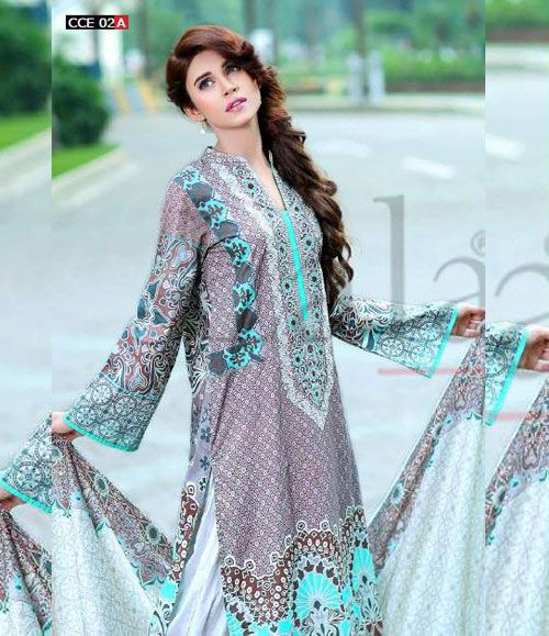 Lala Classic Cotton Embroidered lawn Suits Vol 1. CCE_02A