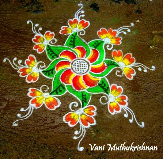 121 best my kolam images on pinterest for Floor rangoli design