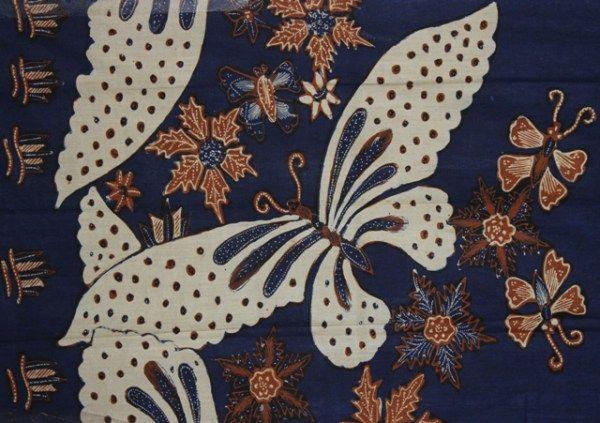 Motif Batik Lepaan Kupu-kupu
