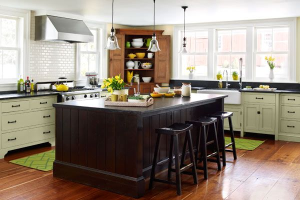 the added on to streamlined upgraded modern farmhouse unfitted kitchen. Black Bedroom Furniture Sets. Home Design Ideas