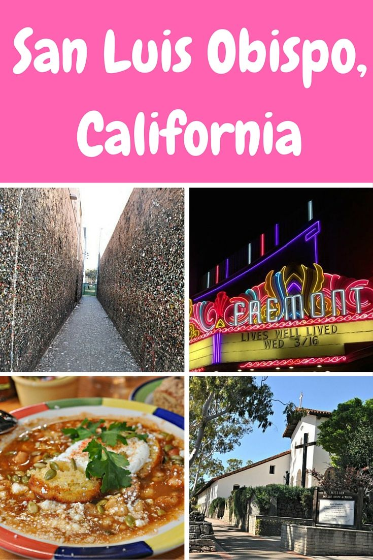 Isn't it wonderful when you go somewhere totally new and it just blows you away with all the awesome offerings? That was my love affair with California's San Luis Obispo, located halfway between San Fran and Los Angeles.