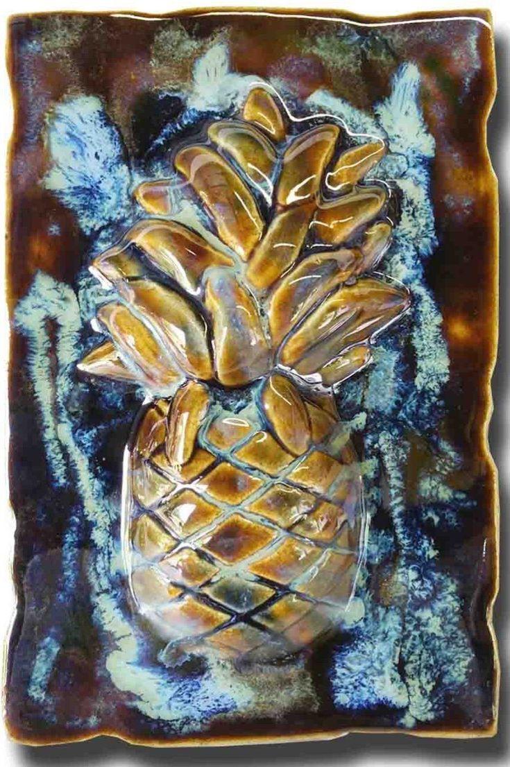 """Wall Art Pineapple Design 7""""x10"""" SP16"""
