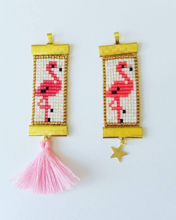 Pompon ou étoile??? Flamants rose et rose fluo #jenfiledesperlesetjassume #motifliliazalee #flamingo #flamantrose #sautoir #collier #necklace #summer #bijou #jewelry #perleaddict #alittlemarket #rose #rosefluo