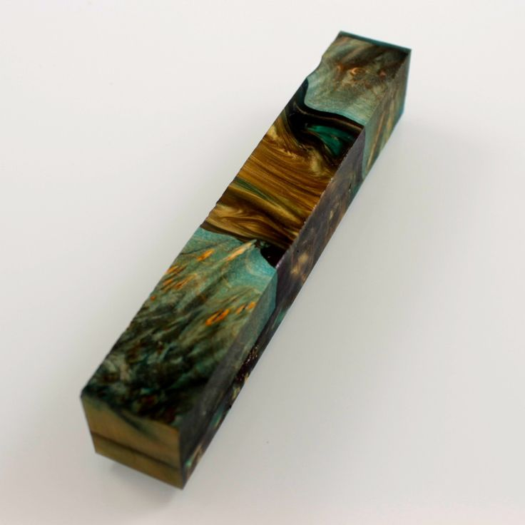 Hybrid Resin Wood Pen Blanks, stabilized Maple burl mixed with Alumilite Clear Resin