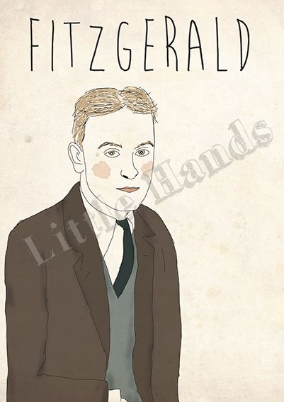Fitzgerald  Digital Illustration  * Printed in recycled 300g paper   * Size A3 ( 42cm x 29.7cm ) - If you are looking for other size please get in touch!  * We are more than happy to create custom work, if you have a request please get in touch and we will do everything in our power to make your life/walls complete.