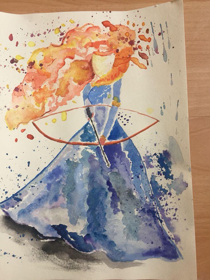 Akvarel brave