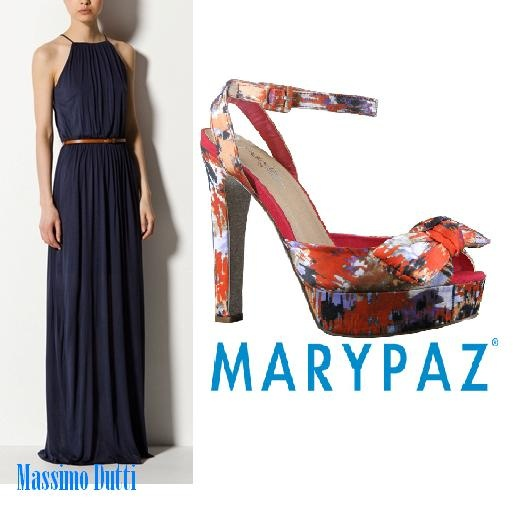 #HoyRecomendamos vestido de @Massimo Dutti al que damos un toque de color con las maravillosas sandalias de #MARYPAZ