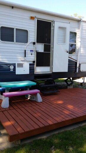 22 best images about camper decks on pinterest decks for Rv decks