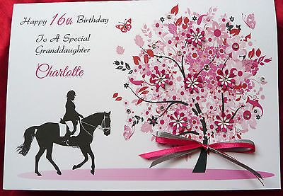 Personalised #handmade a5 birthday card -  #horse #rider 12th 13th 16th 18th 1569,  View more on the LINK: http://www.zeppy.io/product/gb/2/171637800070/
