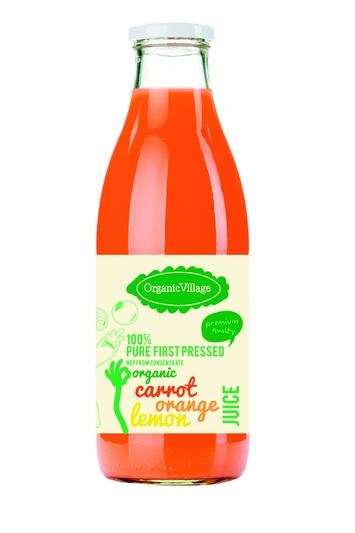 100% Organic First Pressed Vegetable Juice- Not From Concentrate    No added water, salt, sugar and no additives whatsoever!    Carrot juice is prized for its sweet, refreshing taste, here mixed with orange and lemon for a little extra zest. Carrots are packed with vitamins and nutrients and valued for their natural antioxidant goodness and carotenoids which our bodies convert into vitamin A. Oranges are a good source of precious vitamin C.