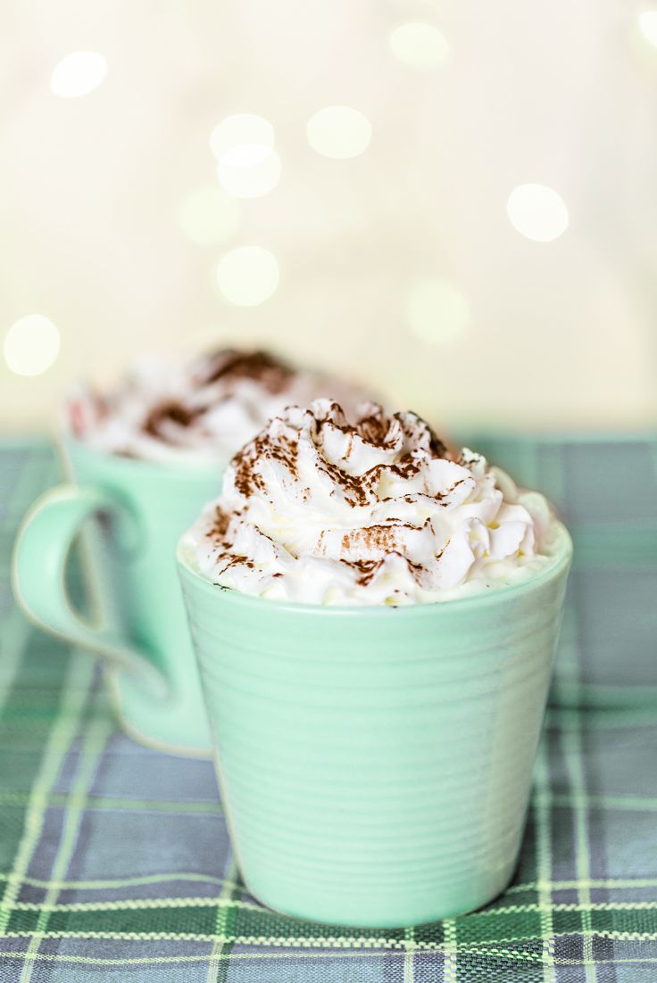 Come in from the cold and warm up with this über-chocolaty pick-me-up! Infused with Snow Day tea, this decadent drink tastes as good as it sounds... sweet, minty and downright delicious.