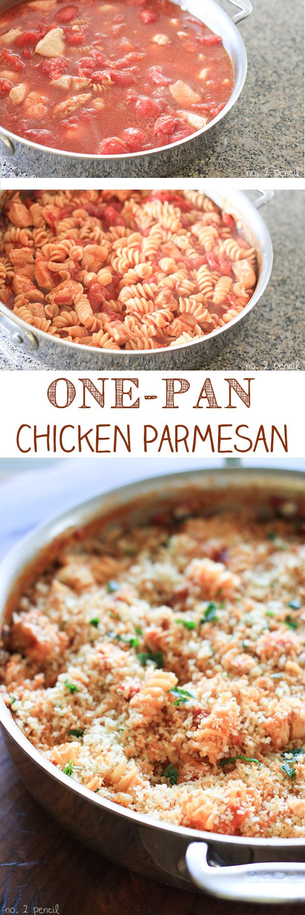 One Pan Chicken Parmesan Pasta