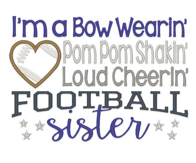Designs :: Sports :: Cheering Football Sister