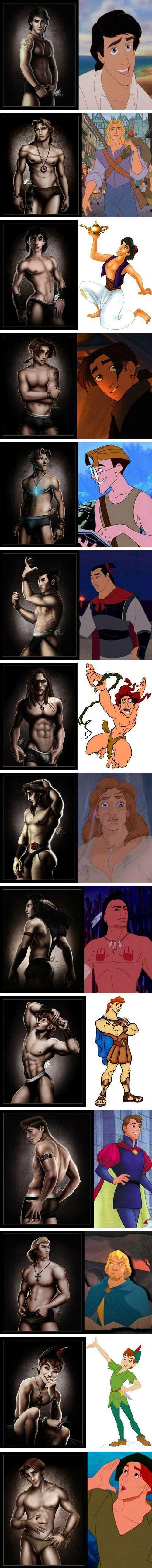 If Disney princes were underwear models.... wow.
