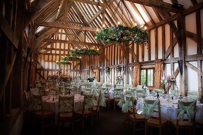Stunning Decorations At Gate Street Barn Wedding Venue In Surrey