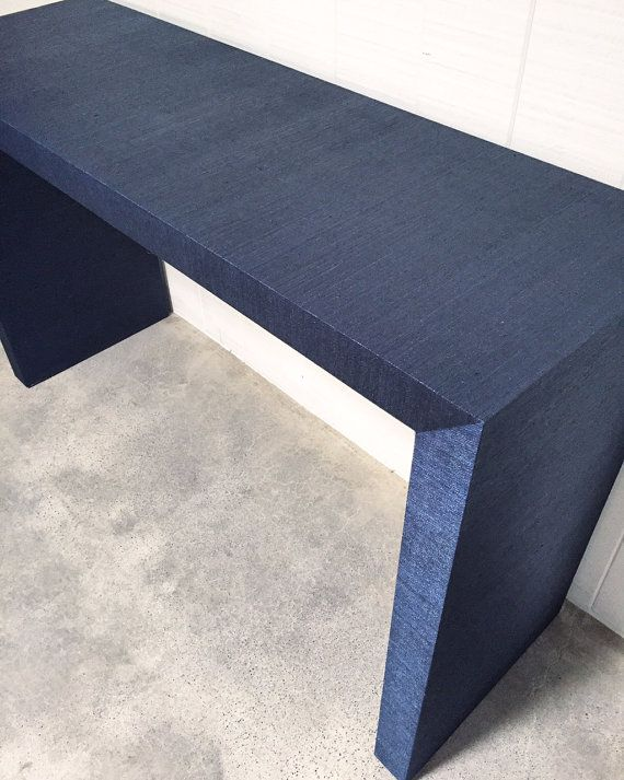 Design Your Own Grasscloth Covered Waterfall Parsons Table! Custom Built  (anyu2026