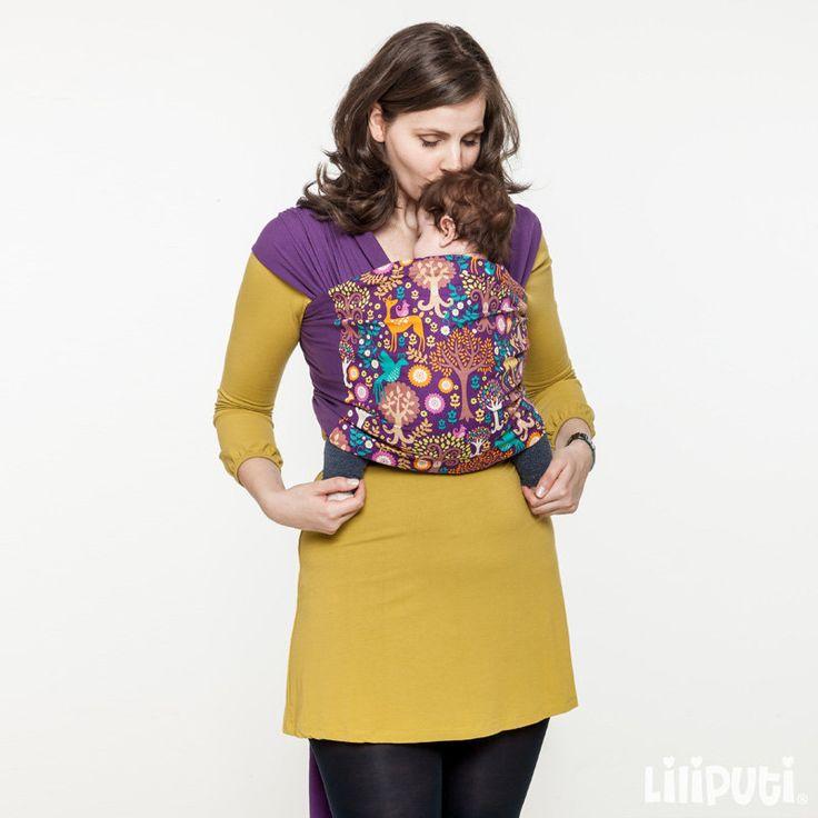 Liliputi® Stretchy Wrap Rainbow line - Magic forest | Liliputi baby shop