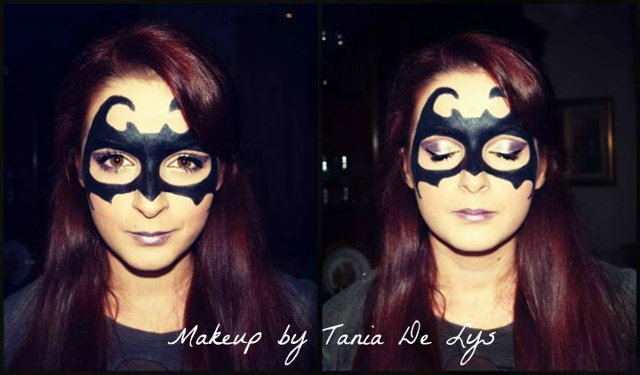 Batman mask makeup