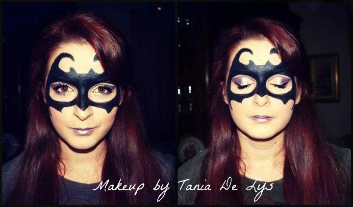 Batman mask makeup