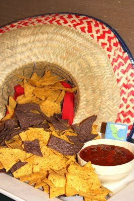 Love this display of chips and salsa