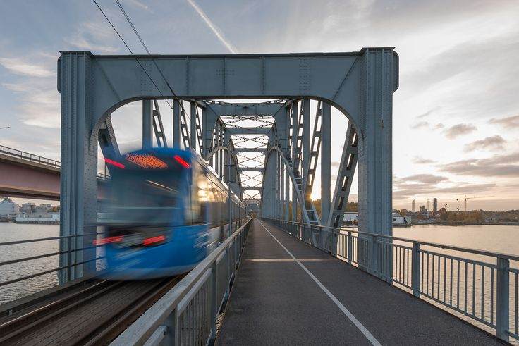 Wikipedia picture of the day on September 26 2017: A new Type A36 tram on Lidingöbanan crossing Lidingöbron (the Lidingö bridge) Stockholm Sweden on 24th October 2015. Lidingöbanan (the Lidingö line) was reopened on 24 October after being closed since summer 2013 for engineering works modernisation and installation of new equipment. http://ift.tt/2hsohRJ