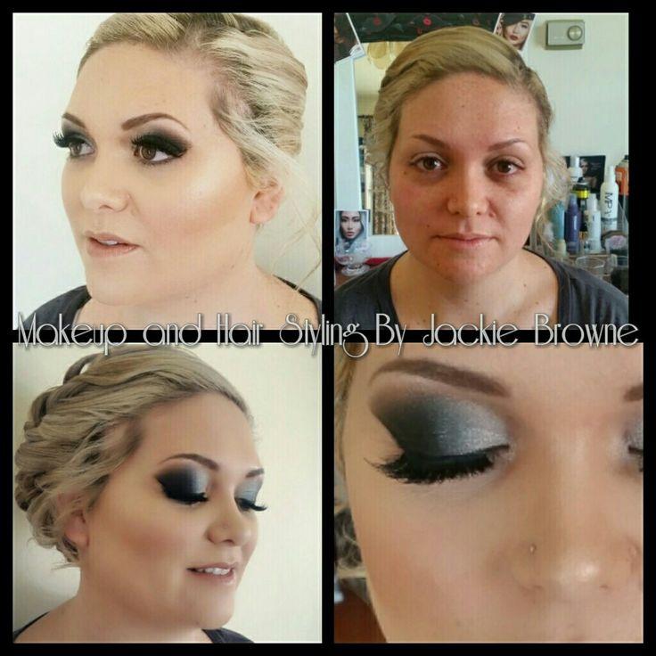 Black silver smokey eye for my gorgeous client.