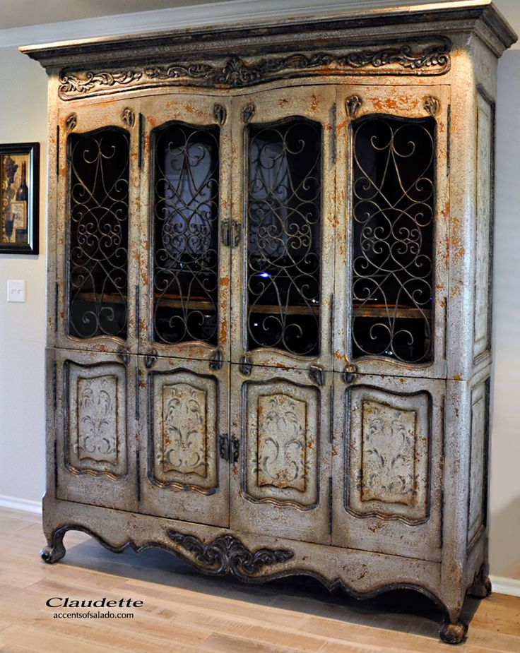 The Claudette French-inspired cabinet is a truly versatile tall furnishing. Remove the shelves to create an impressive media cabinet for the family room or the romantic master bedroom suite. Find it at Accents of Salado.