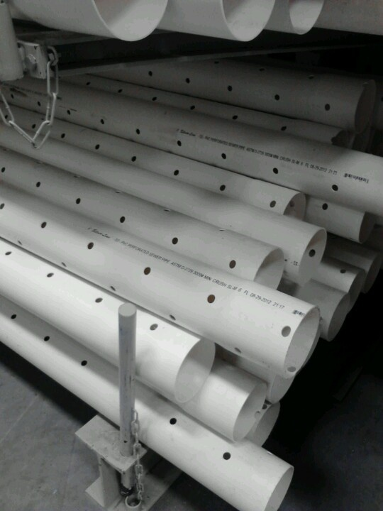 And another view of these pre-drilled 4inx10ft pvc pipes. $8.89 at Lowes!!!