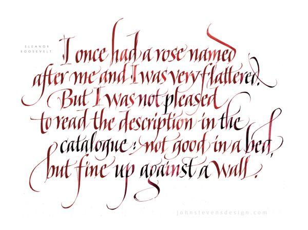 The art & craft of written letterforms by John Stevens, via Behance