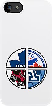Toronto Ontario Pro Sports Inclusion: Toronto Maple Leafs, Toronto Blue Jays, Toronto Raptors and Toronto Argonauts  - Game of Guess Designs -