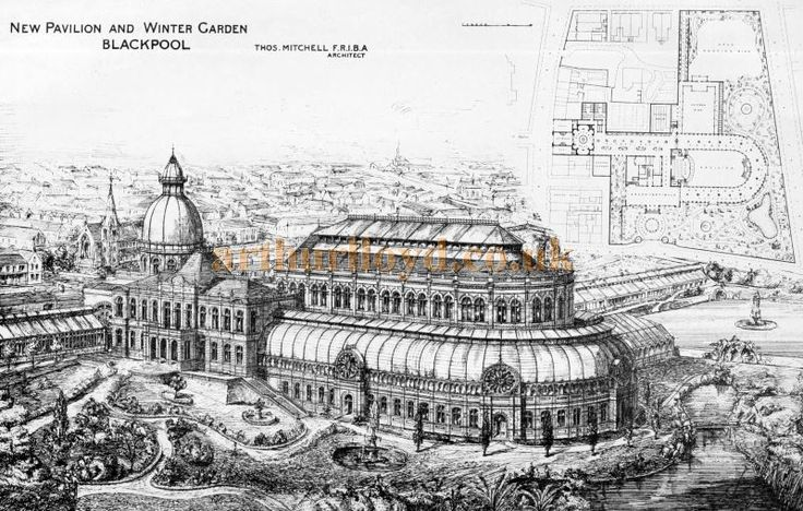 The New Pavilion and Winter Garden, Blackpool - From the Building News and Engineering Journal July 19th 1878.