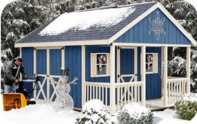 Fairview 12x12 Wood Shed Kit w/ Porch - ALL Pre-Cut  with optional windows and floor $4084.00