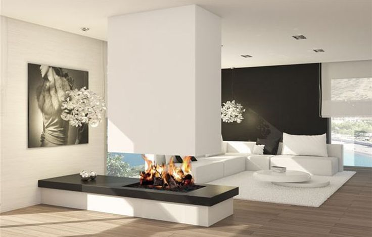 28 best wood wall cladding images on pinterest - Chimeneas modernas ...