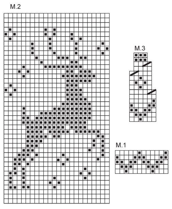 Knitting chart with raindeer