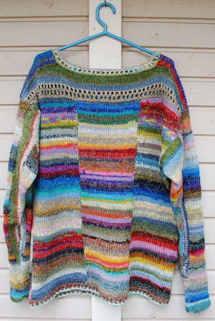 This is knit, but the idea for crochet is great!