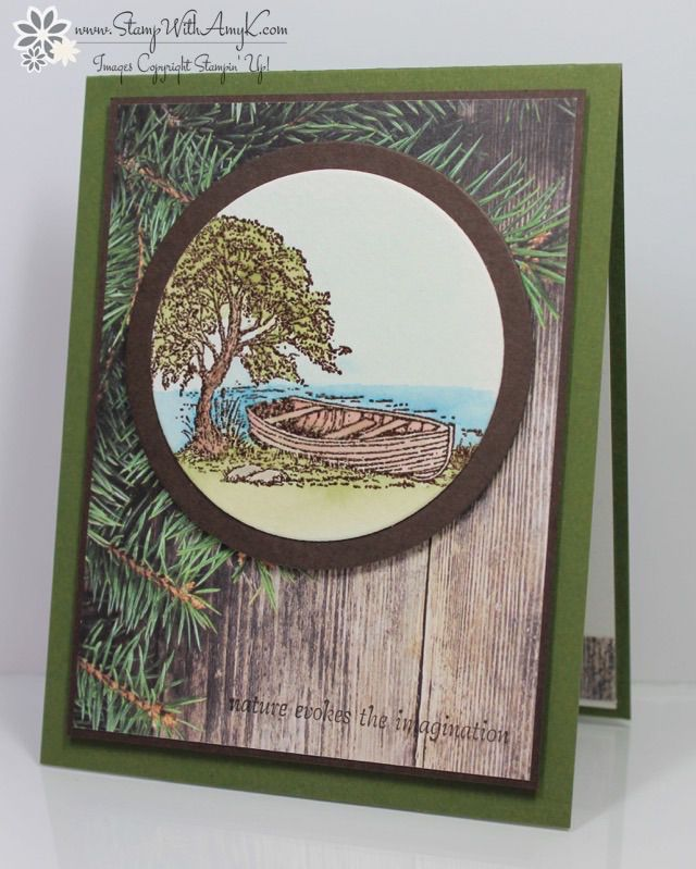 Moon Lake - Stampin' Up! - Stamp With Amy K