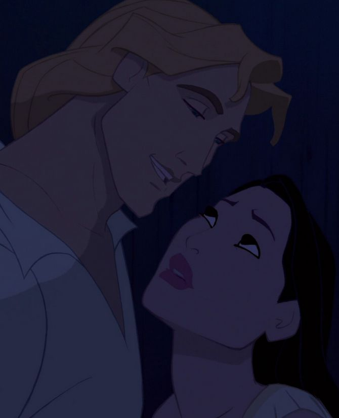 Pocahontas and John Smith. The unhistorical couple I fell in love with. <3