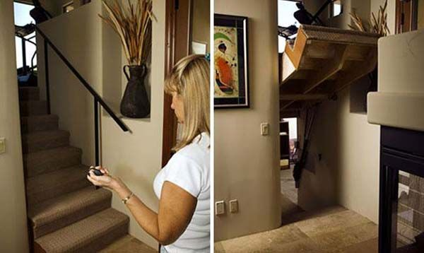 19 Hidden Rooms You Will Want In Your Own House - Staircases are just MEANT to have secret passages.
