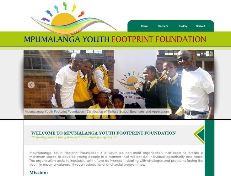 WEBSITE DESIGN >> Mpumalanga Youth Footprint Foundation -  Created By Design so Fine