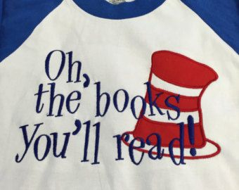 Dr. Seuss Shirt ADULT and YOUTH Read Across by CreateandAccentuate