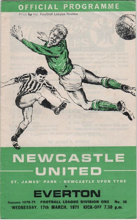 Vintage Football Programme - Newcastle United v Everton, 1970/71 season, by DakotabooVintage, £3.99