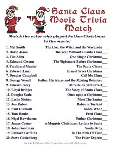 Santa Claus Movie Match Game