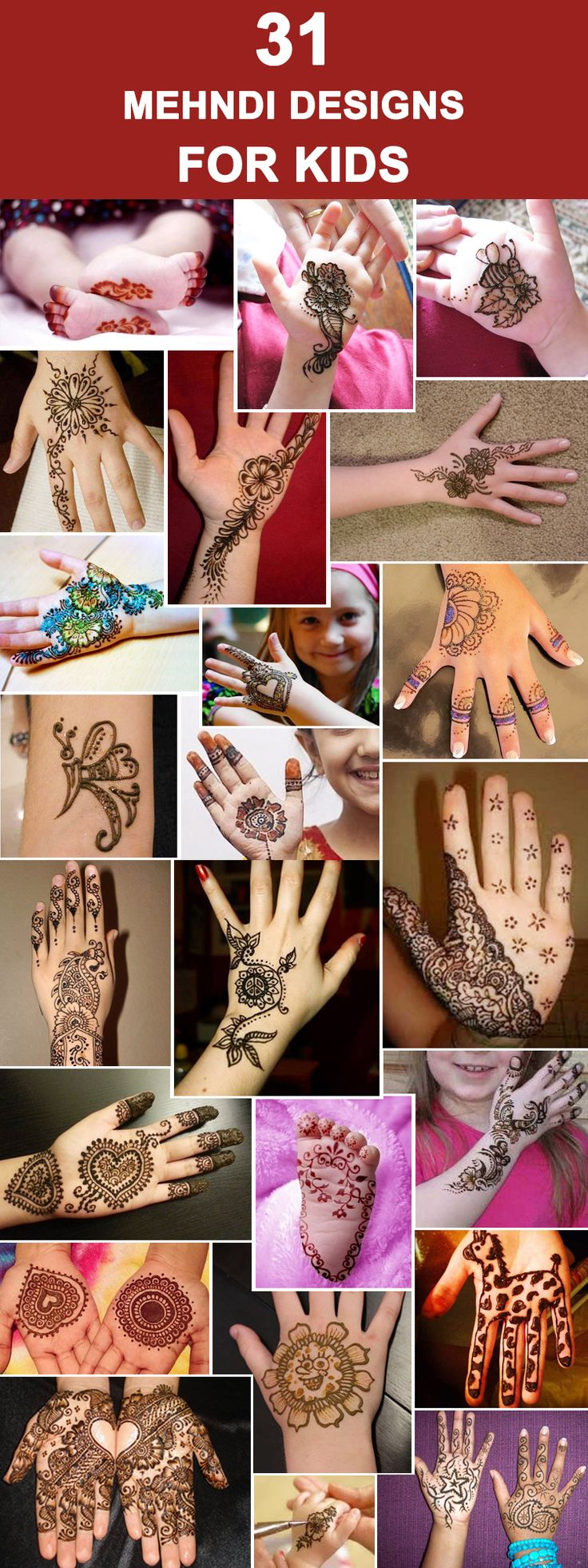 31 Mehndi Designs For Kids