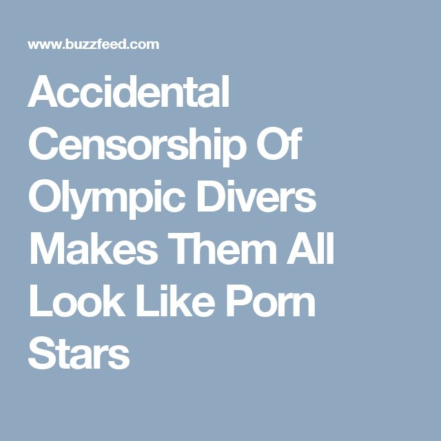 Accidental Censorship Of Olympic Divers Makes Them All Look Like Porn Stars