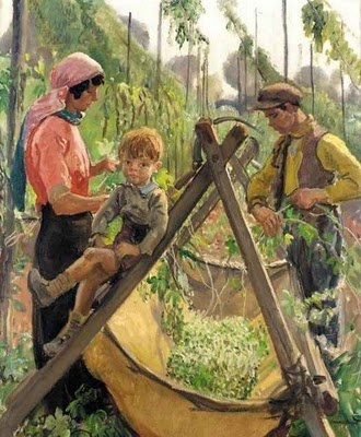 British Paintings: Dame Laura Knight - The Hop Pickers, Malvern
